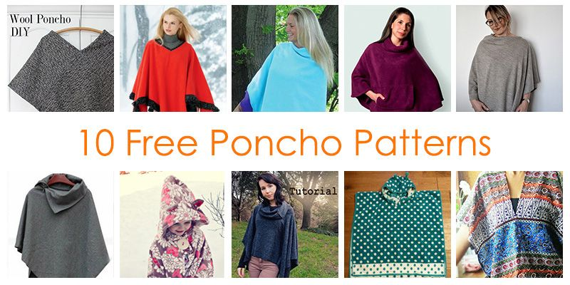 How to Make a Poncho - 10 FREE Poncho Sewing Patterns!!! | Poncho .