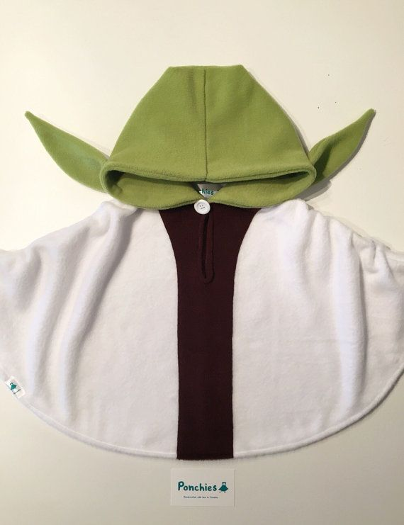 Baby & Kid Yoda Star Wars Fleece Poncho - Superhero - Car Seat .