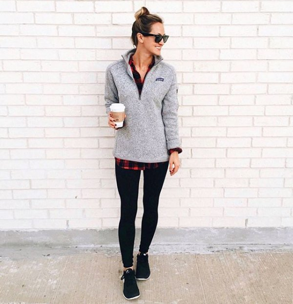 How to Style Quarter Zip Pullover: Top 15 Casual Outfit Ideas .
