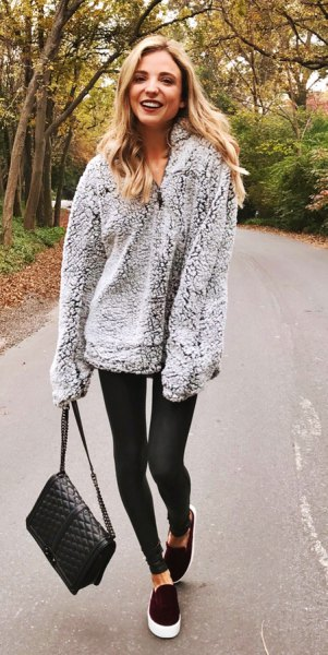 How to Style Fleece Sweater: 15 Cozy Outfit Ideas for Women - FMag.c