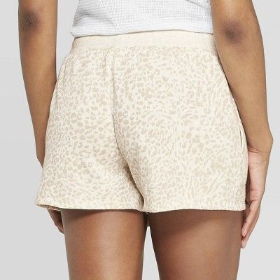 Women's Leopard Spot Fleece Lounge Pajama Shorts - Stars Above .