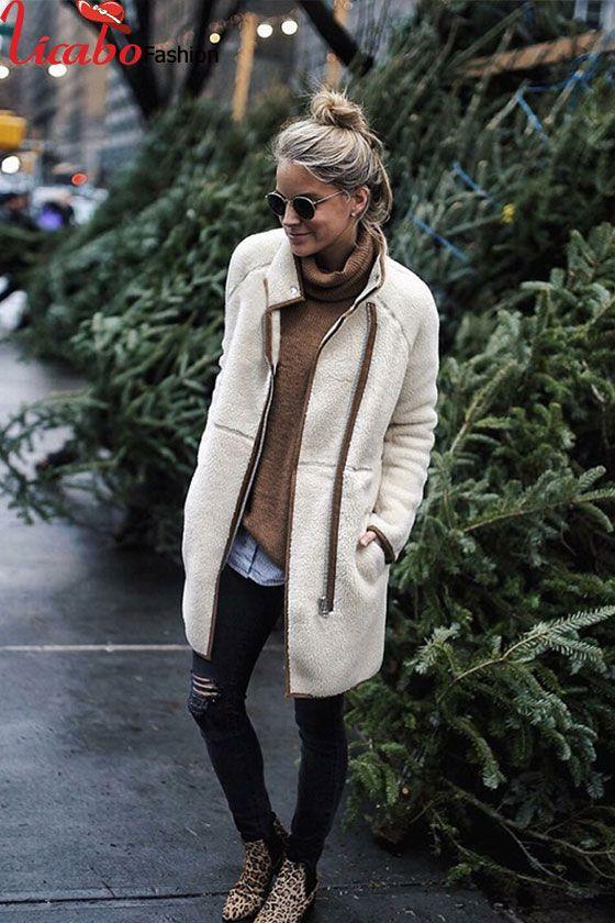 Fashion Womens Winter Cardigan Coat Top Jacket Long Zipper Fleece .