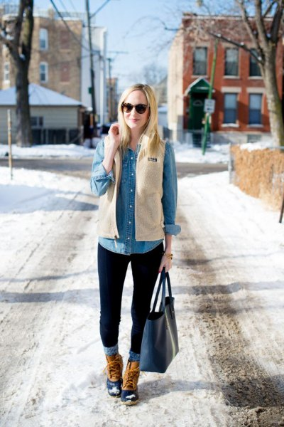How to Style Fleece Vest for Women: Outfit Ideas - FMag.c