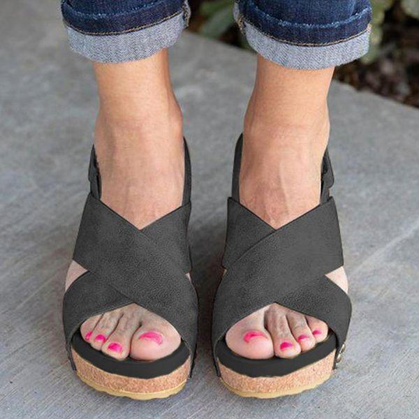 Women's Slingbacks Leatherette Wedge Heel Sandals (1625392795) in .