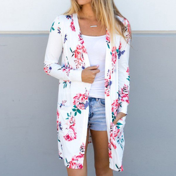 Best 13 Floral Cardigan Outfit Ideas for Women - FMag.c