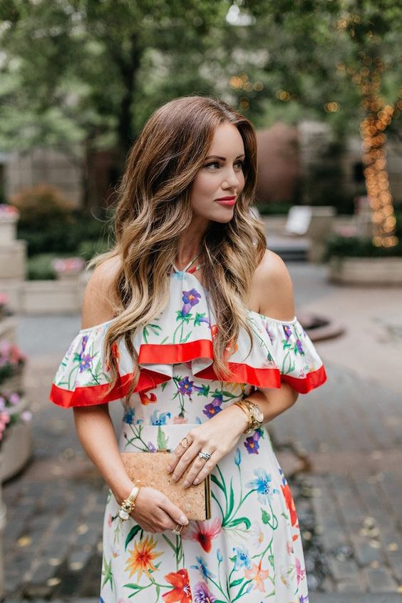 Floral Cold Shoulder Dress: Stunning Outfit Ideas - FMag.c