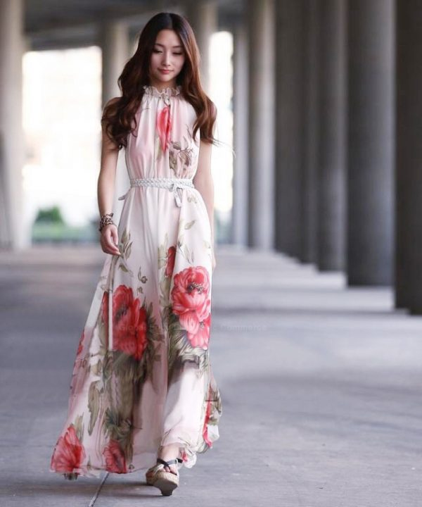 25 Ideas to Wear Maxi Dress Outfits - Be Modi