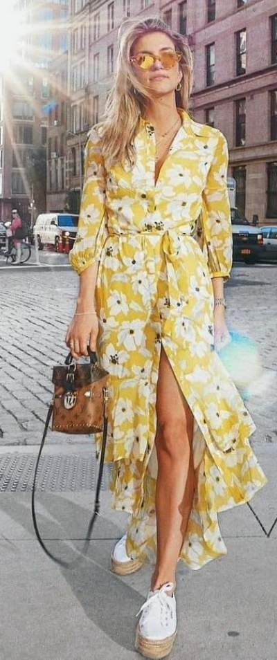 The 100 + Best Women Summer Outfits Ideas Of All Time | Yellow .