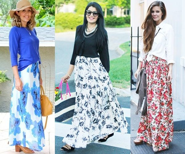 How to Wear and What to Wear with Long Skirts (Q&A) | Maxi skirt .