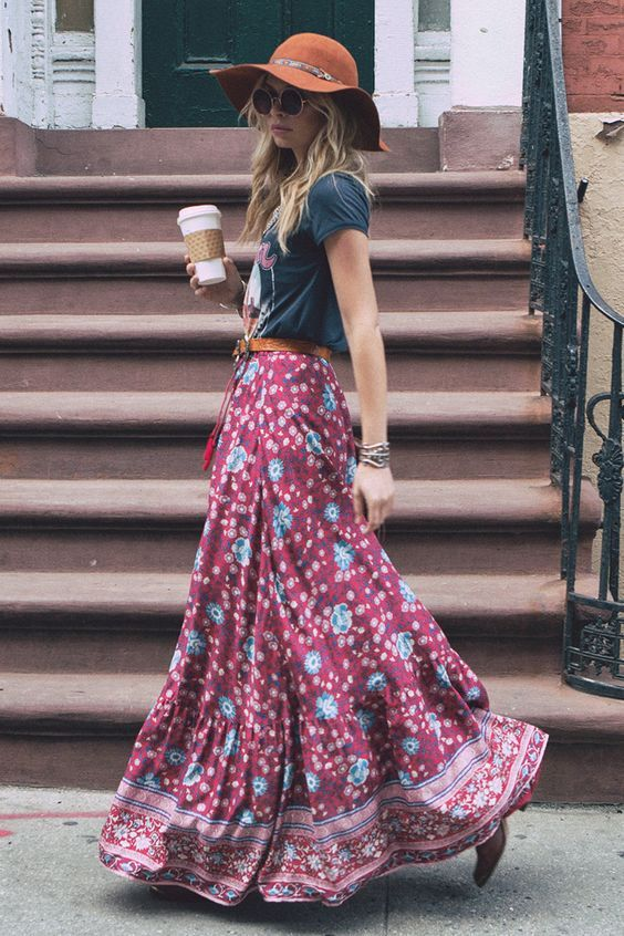 16 Beautiful Maxi Skirt Outfits for Summer | Styles Week