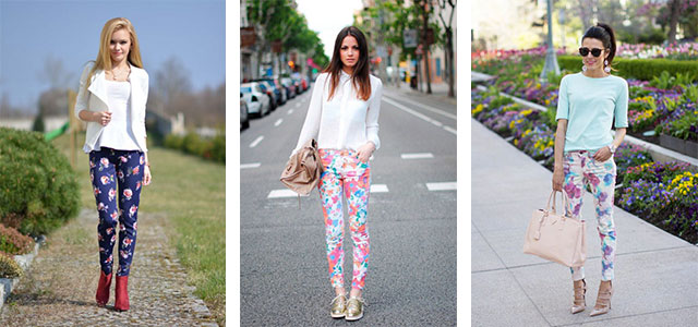 20 Pink, Black, & Blue Floral Pants Fashion Ideas 2016 For Girls .