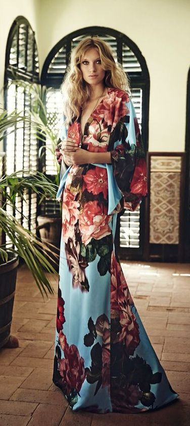 perfect floral robe for the summer | Kimono fashion, Kimono style .