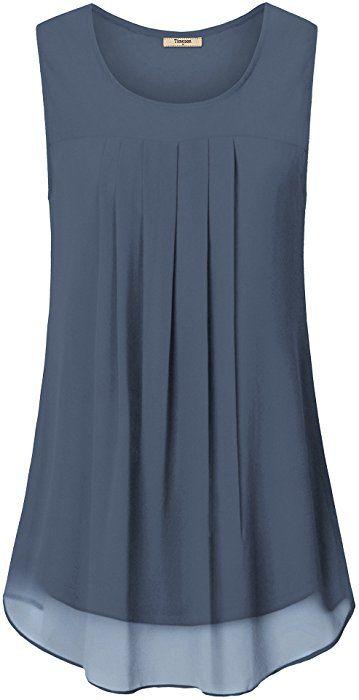 Timeson Flowy Tank Tops for Women, Women's Sleeveless Blouses .