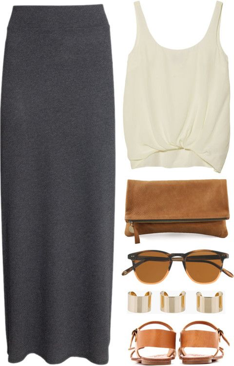 Easy/ Lazy by endimanche featuring long ankle length skirts maxi .