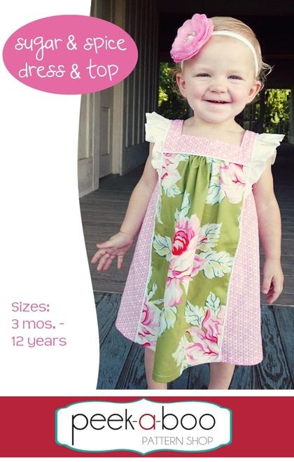Flutter Sleeve Dress Pattern | Sugar & Spice Dress & T