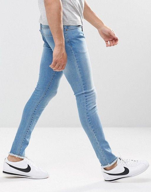 The Raw Frayed Hem Jeans Trend For Men | Frayed hem jeans, Mens .