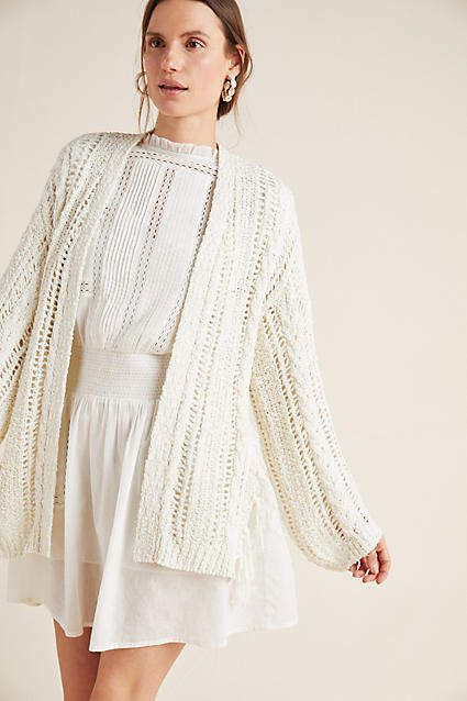Anthropologie Etiennette Fringed Cardigan #ad #AnthroFave .