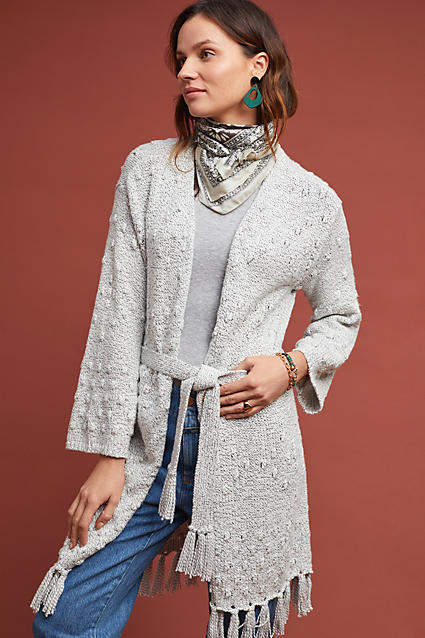 Cupcakes and Cashmere Oreithyia Fringed Cardigan #ad #AnthroFave .