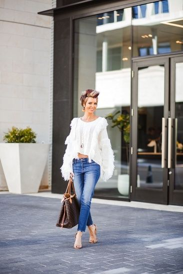 vicidolls, Vici, white sweater, fringe sweater, date night outfit .