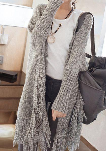 comfy oversize fringe cardigan #fall #fashion #trend | Fashion .