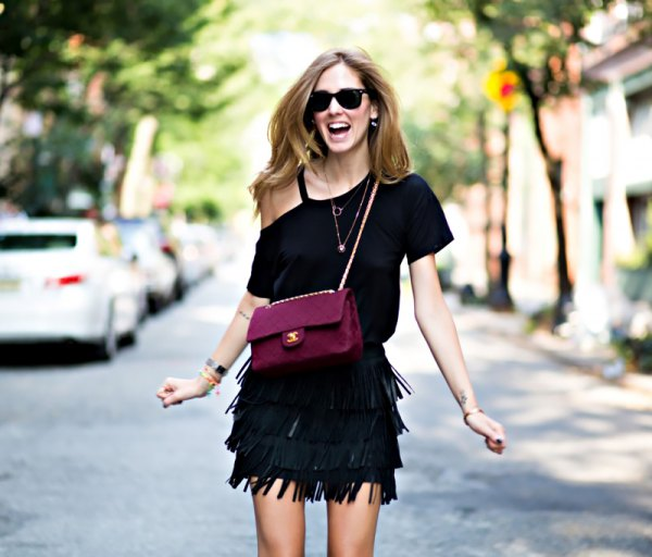 15 Top Outfit Ideas on How to Style Black Fringe Dress - FMag.c