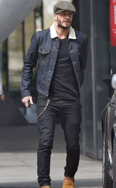 20 Fur Collar Denim Jacket Outfits For Men - Styleohol
