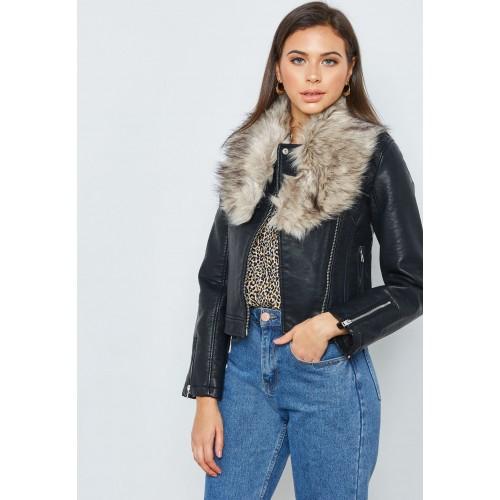 Women's Jackets Seasonal Promotion Shop Forever 21 black Fur .
