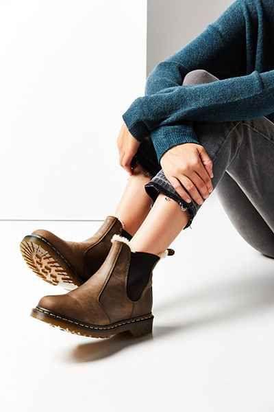 Dr. Martens Faux Fur-Lined Leonore Chelsea Boot | Chelsea boots .