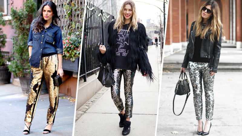 How to Make Sequin Pants Look Cool | StyleCast