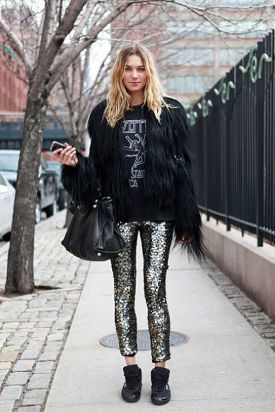 How to Style Glitter Pants: 15 Sparkly & Stylish Outfit Ideas .