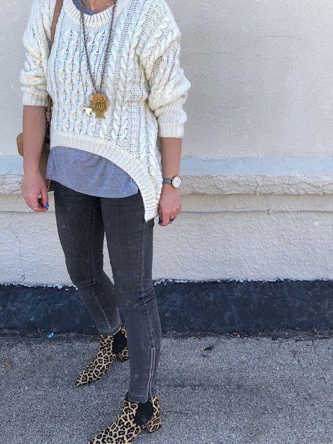 Leopard print ankle boots | Leopard print ankle boots, Grey skinny .