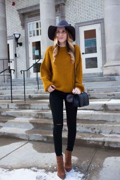 How to Wear Mustard Yellow Sweater: Top 15 Cheerful Outfit Ideas .