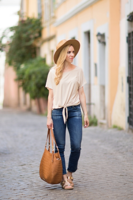 18 Amazing Outfit Ideas With Gold Sandals - Styleohol