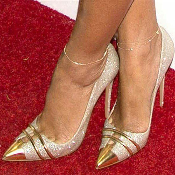 Women's Wedding Shoes Winter Fashion Wedding Shoes Silver and Gold .