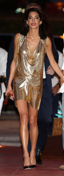 How to Style Gold Lame Dress: 15 Classy Outfit Ideas - FMag.c