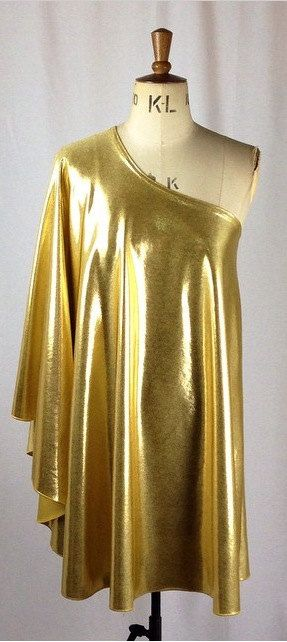 Baylis & Knight Gold Lame STUDIO 54 Batwing 70's Disco Queen Glam .