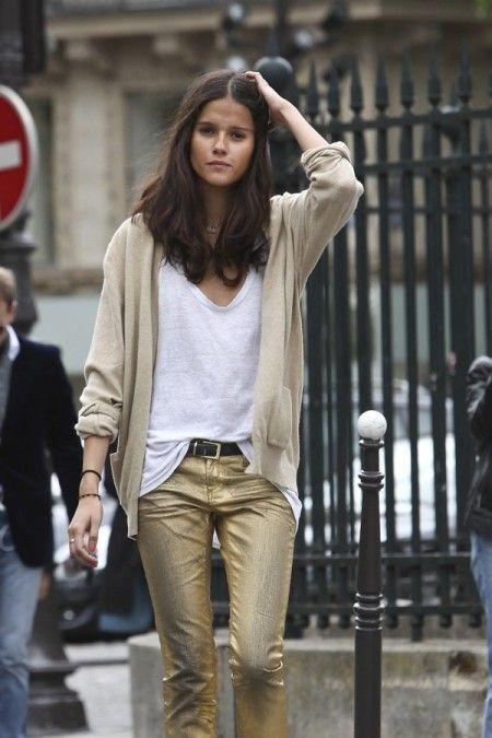 love gold metallic pants | Mode, Mode d'empl