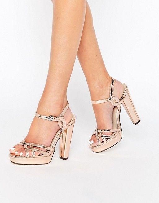 Discover Fashion Online | Gold platform heels, Wedding high heels .