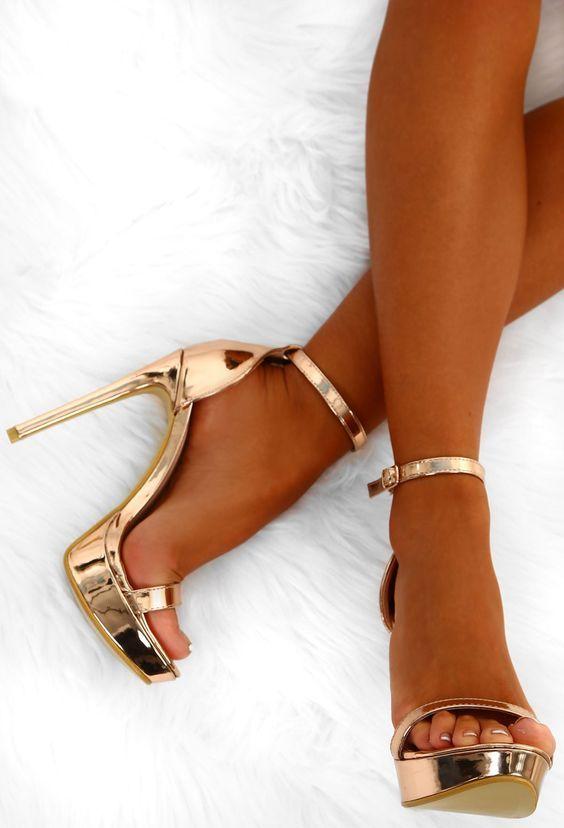 42 High Heels For Moms | Gold platform heels, Prom heels, Stiletto .