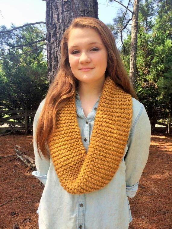 Janice Infinity Scarf // Goldenrod Gold // Gold Scarf, Women's .