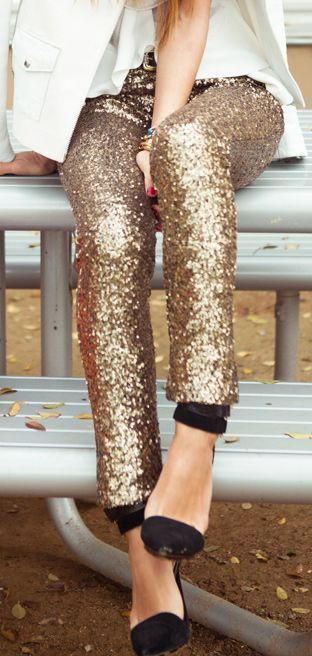 Champagne Gold Sequin Leggings | Glam Rock | Cute concert outfits .