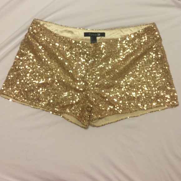 Forever 21 Other | Gold Sequin Shorts | Poshma