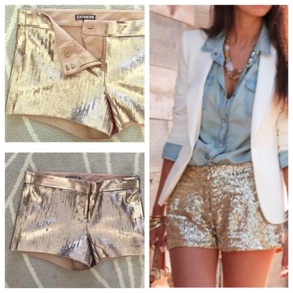 Express Shorts | Gold Sequin | Poshma