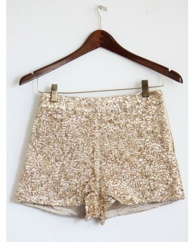 High Waist Gold Sequin Shorts (con imágenes) | Moda estilo .