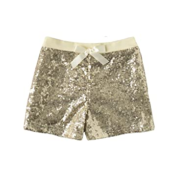 Amazon.com: Toddler Girl Gold Sequin Shorts Two Year Old Gold .