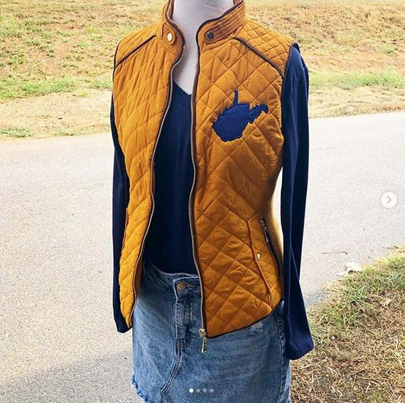 West Virginia Vest For Women Gameday Outfit Ideas Gold And | Et