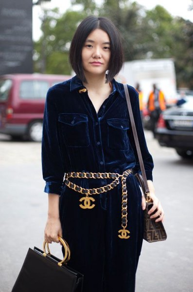 How to Wear Gold Chain Belt: 15 Super Chic Outfit Ideas - FMag.c