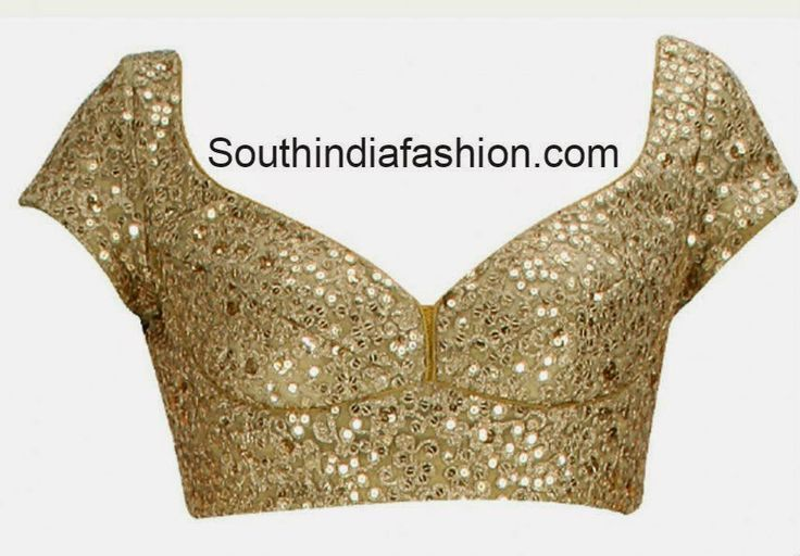 gold color saree blouse (With images) | Gold saree blouse designs .