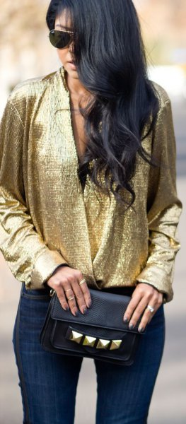 How to Wear Golden Blouse: 13 Best Outfit Ideas for Women - FMag.c