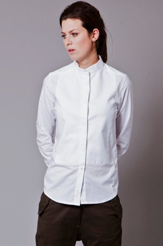 How to Wear Grandad Collar Shirt for Women: Outfit Ideas - FMag.c
